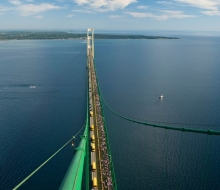 2008 Mackinac Bridge Walk from top of the south tower