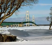 Mackinac Bridge taken from south side
