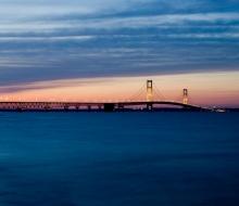 Mackinac Bridge, Sunset