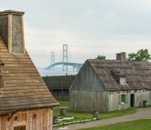 Through the fog at Colonial Michilimackinac