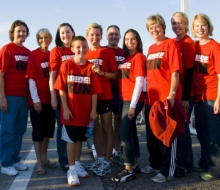 Governor Granholm and Fitness council after the 2008 Mackinac Bridge Labor Day Run