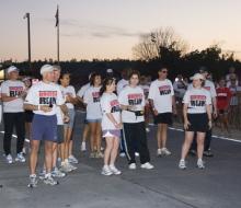 Startign the run of the 2008 Mackinac Bridge Labor Day Run/ Walk