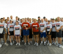 2008 Mackinac Bridge Labor Day Runners group photos with Governor Granholm