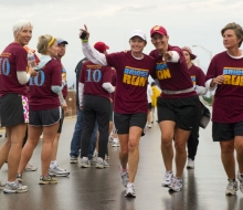 2010 Mackinac Bridge Walk in honor of Larry Rubin.