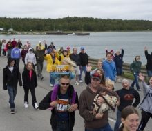 2013 Mackinac Bridge walk and run.
