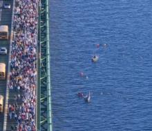 2007 Labor Day Mackinac Bridge Walk Run Swim