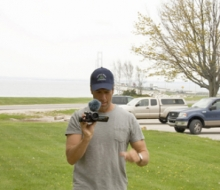 Filming of the Discovery Channel show, Dirty Jobs, with host Mike Rowe at the Mackinac Bridge