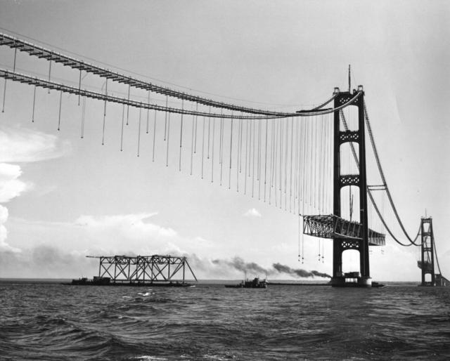 Mackinac Bridge Historical Construction Album