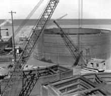 Caisson afloat - August 31,1954