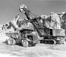 Loading dolomite - October 23, 1954