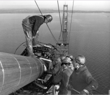 Checking diameter - October 20, 1956