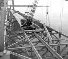 Deck construction - August 27, 1957