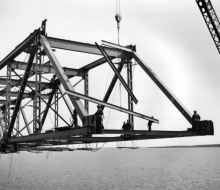 Lifting lateral beams - May 2, 1957