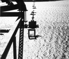 Piers in place - October 26, 1955