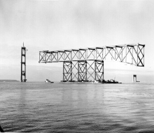 Towing backstay span - December 18, 1955