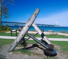 From the shore in Mackinaw City