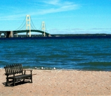 Mackinaw City sand beach